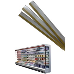 Self adhesive ticket rail for chillers & freezers