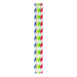 Paper Straws - Multi-coloured stripes