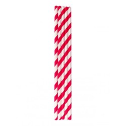 Paper straws - Red & White Striped