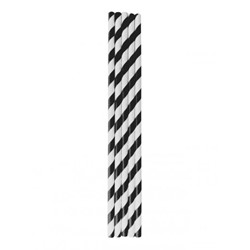 Paper Straws - Black & White Striped