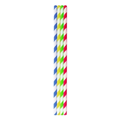 PAPER STRAW MULTI-COLOURED